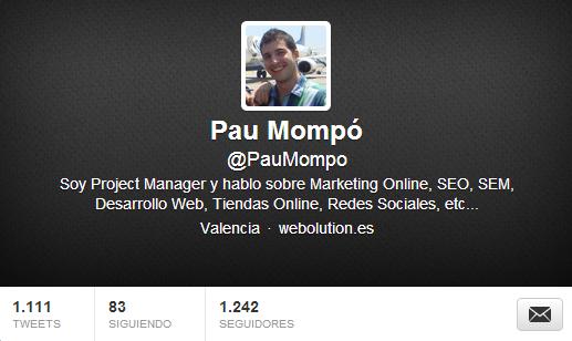 Twitter de Pau Mompó