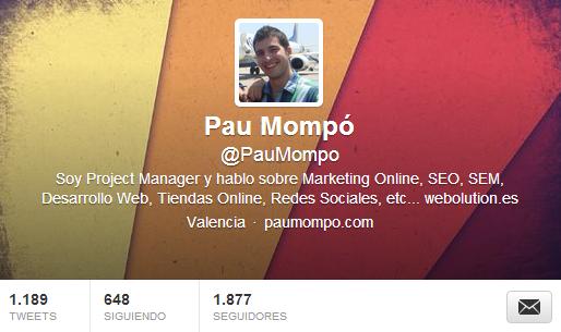 cuenta de twitter de @paumompo